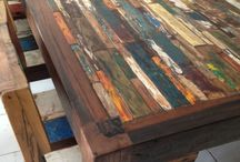 Boat wood furniture