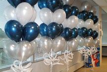 Ameriprise Partnership Event / Color Scheme: Navy, Silver & White  Linens: Navy & White  Centerpieces: Simple, preferably non-floral  Swag Bags: Classy, corporate gifts at exit (mini champagne bottle, corporate logo cookie, chocolates and if time allows, logo-gift).