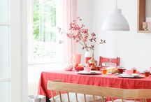 valentijn rood, wit en roze