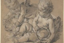 François Boucher + Jean-Honoré Fragonard Drawings