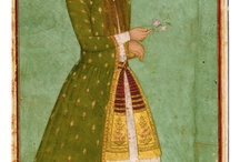 portrait in Indian and persian miniature