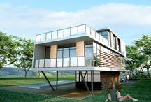 """Contest: New Home / Submissions for the """"New Home"""" contest at arcbazar.com - See all designs and architects here: http://www.arcbazar.com/special-residences-villas-terrace-houses-mountain-homes-mansions-and-similar-structures/competition/new-home"""