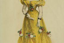 1820-1840 fashion catalog illustration