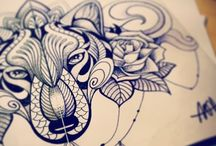 tattoo sketch, drawing, skizze plans / we work on new sketches all the time..but also we do plan a lot and design custom style ...always... and once needed   #tattoodesign #tattoodesigns #abstract #abstractart #sketch #tattoosketch #drawings #painting #drawing