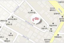 About Eda / 이다커뮤니케이션즈의 회사 사진과 오시는 길에 대한 정보입니다.