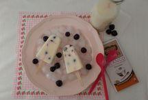 Ice cream, frozen treats, helados, polos. Recetas de Anansies