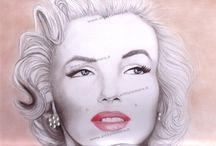 Disegni .✏✏✏✏ / Eseguiti in varie tecniche. #art #disegni #ritratto #portrait #drawing #painting