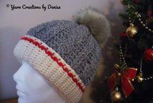 Folded Brim Monkey Sock Crochet Braided Hat