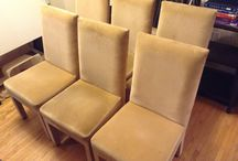 Set of 6 Parson chairs in micro fiber / (100$ Toronto)I have a set of 6 chairs micro fiber parson (the price is for all 6),they are in fair condition,the fabric need to be clean or you can use slip cover,the mesurements are 18/37 inches high x 18 inches wide x 17 inches depth,the price is for all 6 chairs,i am in etobicoke area,ask us what else we have for sale...we have a lot