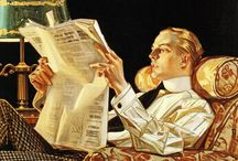 J.C. Leyendecker / The Art of J.C. Leyendecker. At one point he got more fan mail (love letters) for his depiction of the Arrow Collar men than Valentino. He is credited with inventing the concept of the New Year's Baby image. Amazing illustrator and fascinating life.
