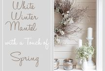 mantel ideas / by Jess - Frugal with a Flourish