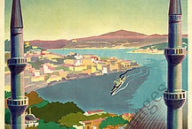 Istanbul vintage travel posters
