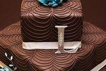 Chocolate and blue wedding
