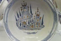 Canakkale Plate 19th Rare Houses Motif
