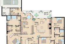 house plans / by Ashley Bottem
