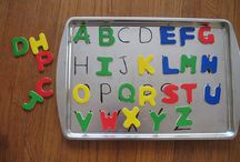 English letters / Lettere magnetiche