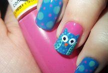 Nail Art-Owls