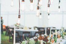 Festoon light ideas / Ideas on how to use our alternate length festoon lights we hire.