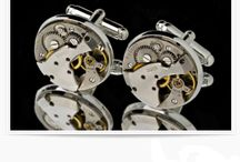 Mens Geared Cufflinks / cufflinks