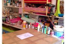 Art Studios / The creative pull and inspiration of a well laid out and stocked art studio with lots of yummy art supplies!
