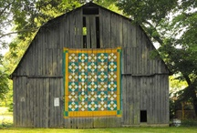 Barn Quilts / Barn quilts are large-scale quilt squares painted on plywood or directly onto the outside of barns to celebrate the tradition of quilting,they often serve as memorials to lost relatives, sources of pride that bring families together, or just as beautiful displays of public art. There are thousands of barn quilts, many of which are strung together into local driving trails, that span 30 states from New York down to Texas.
