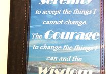 Serenity Prayer Journal / Genuine Leather Cover features the Serenity Prayer on the front with a Calming Beach Background Perfect Gift for someone who is - Just entering recovery, Currently in a treatment center, Graduating from a program, Having their Alcoholics Anonymous birthday.