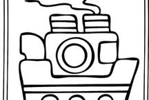 Transportation colouring pages