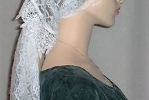 Hair Wraps / Distinctive hair wrap veil head coverings that are beautifully hand crafted with fine lace fabrics and trims.