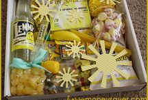 "Sunshine Basket Ideas / This is a creative way to appreciate, encourage, and let someone know you are thinking about them. There are tons of reasons to  give a ""Sunshine Basket""!  One thing lacking in our world is encouragement.  Have fun spreading a little ""Sunshine"" one person at a time."