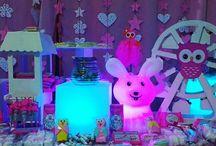 Evento infantil ... A mbientación Led y Candy Bar...