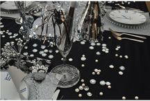black and silver table