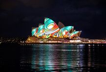 The Vivid Colors of Sydney / Colorful pictures of the Sydney Australia.