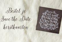 Save the Date kerstkaarten / Kerst Save the Date kaarten om de trouwdatum aan te kondigen want jullie gaan trouwen