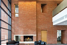 Interior Uses of Brick / See how clay brick can warm up the interior of your home or office as well as tie into the exterior brick for a cohesive look through the building.