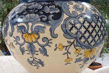 Pintura em cerâmica e porcelana e falso esmalte