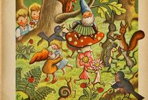 Gnomes are IN / All kinds ofGnome figurines or fabric or anything Gnome themed for crafts or decorating! / by Laura Marec