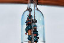 wind chime glass bottel