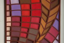 PAINÉIS LINHA INDOCHINA / Arquitetura de papel, recortes, montagem tridimensional, e aplicação de cores com papéis 100% algodão.