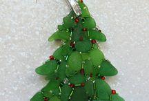 Beach glass ornament / Ornaments I make or like