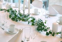 Wedding table with eføy