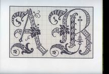 Cross Stitch Letters... / by Banu Abdusselamoglu