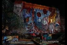 Building projections and lightpaintings