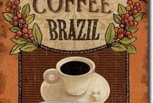 vintage coffee decoupage / Kávé