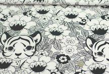 Tissus Jersey de coton bio et popeline. Fabrice organic / Tissu Jersey et popeline. Tissu design et créateur