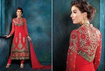 Georgette Salwar Kameez / IndianTrendz Salwar Kameez in Georgette with elegant work of thread, pearl, motif, zardosi which make it even more classy for any wedding, party or occasion.