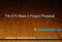 FIN 575 Week 3 Project Proposal