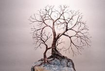 Wire tree decorations