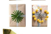wrapping gifts ... emballer des choses / by Ina/Tante Sophie