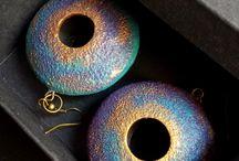 polymer clay earrings / Boucles d'oreilles en fimo ou cernit très design
