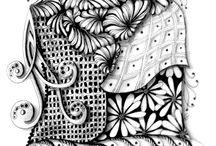Zentangles &  Doodles / графические рисунки, в основном - монохром